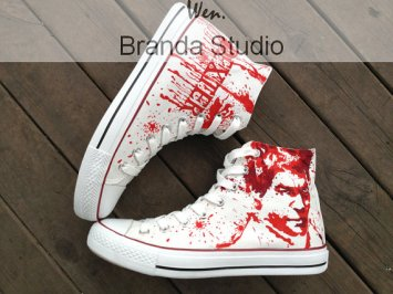 When I first saw these my reaction was: oh, yay, more blood splatter...but looking closer I realized I was looking at Dexter! Brandastudio makes these in a variety of sizes and their FAQ on the item talks about the durability. They are even priced reasonably.